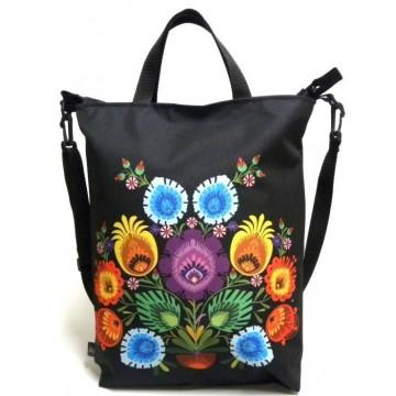 Folk torba kwiaty dzban