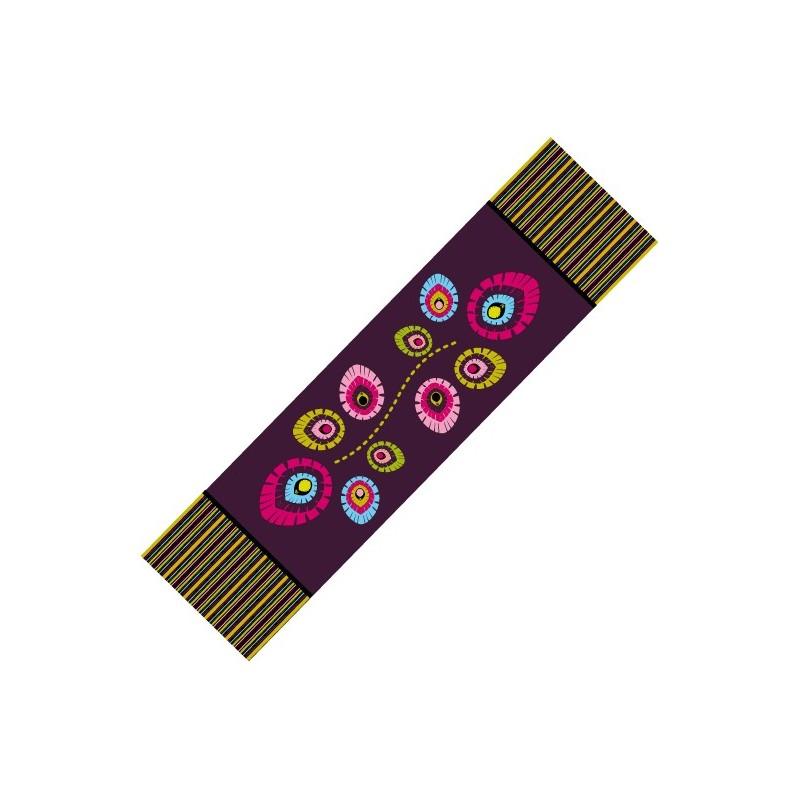 Bieżnik folk elements fiolet
