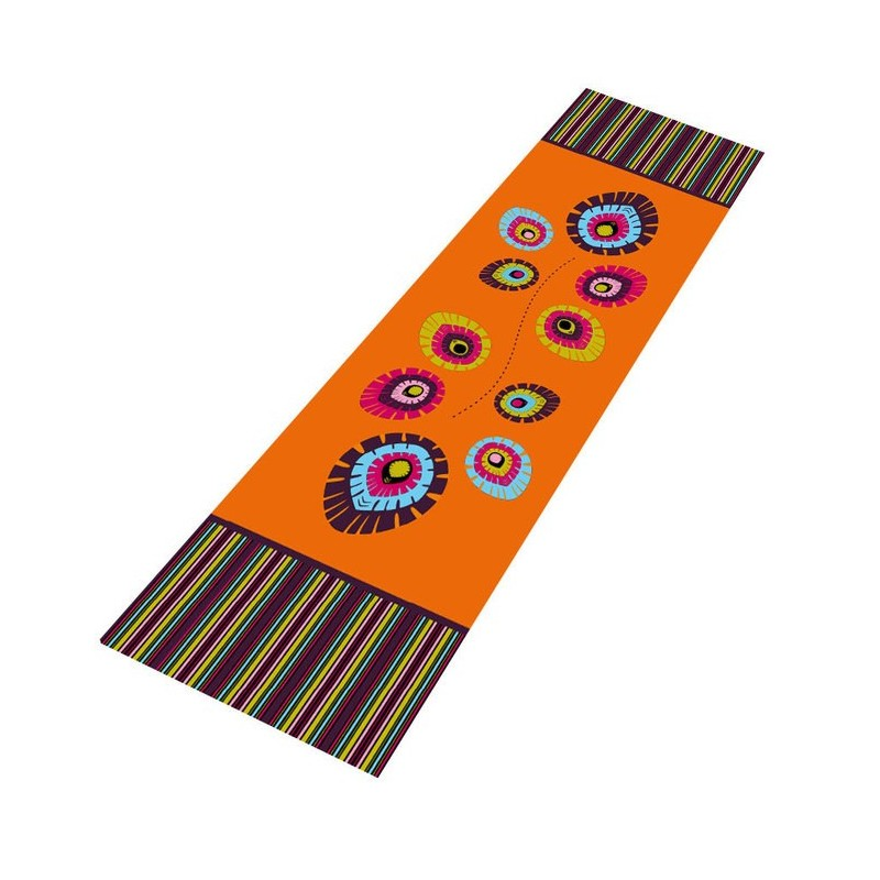 Bieżnik folk elements fiolet 40 x 200