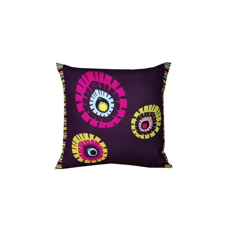 Poduszka kwadrat folk elements fiolet