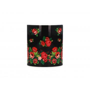 Folk kubek podhalańskie róże