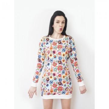 Folkowa bluza kwiaty