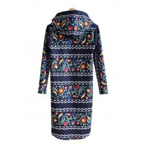 Sukienka z kapturem pasy folk