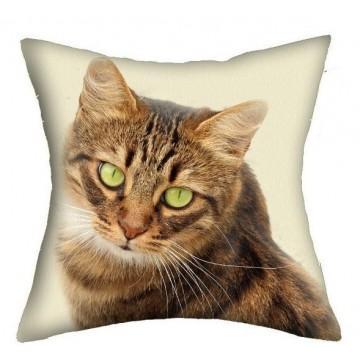 Poduszka dwustronna kot beż 43 cm