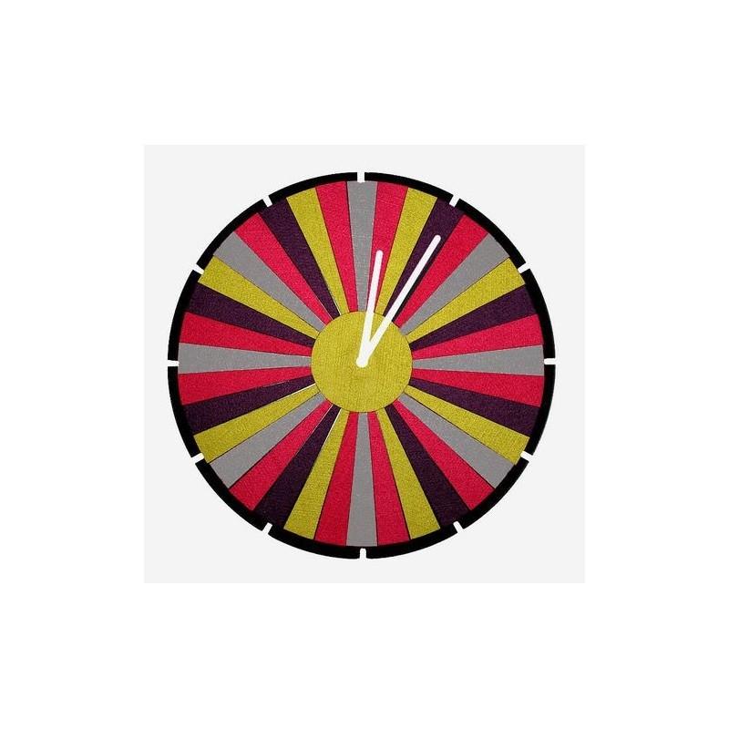 Folk zegar łowicki pasiak