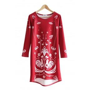 Sukienka czerwona kurpie