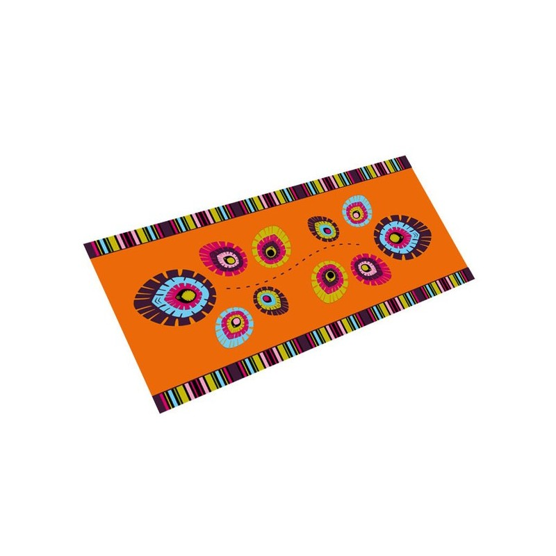 Bieżnik folk elements pomarancz 38 x 100