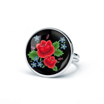 Pierścionek ludowa róża