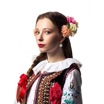 Kolczyki folk kwiaty