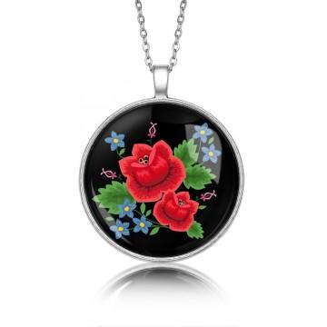 Medalion ludowe róże