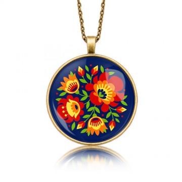Medalion ludowe kwiaty