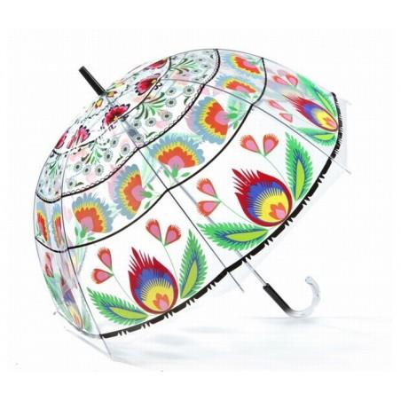 Folk parasol łowicz bąbel