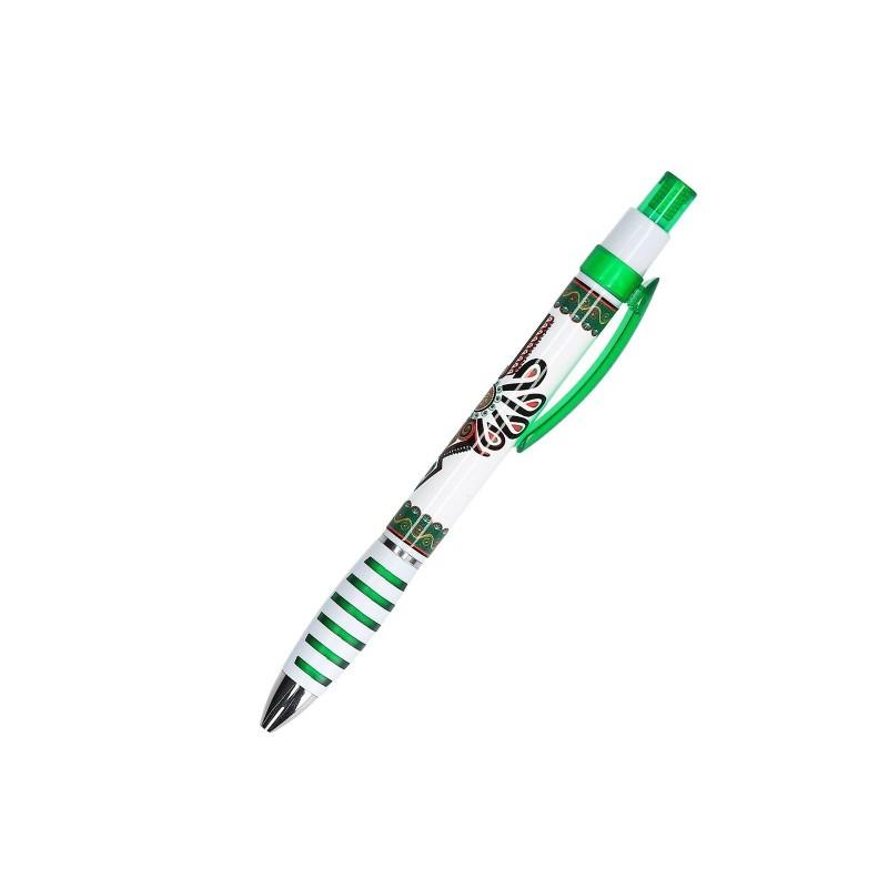 Długopis z parzenicą zielony