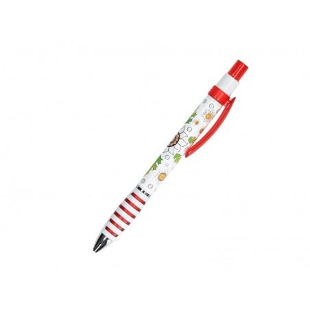 Długopis szarotka czerwony