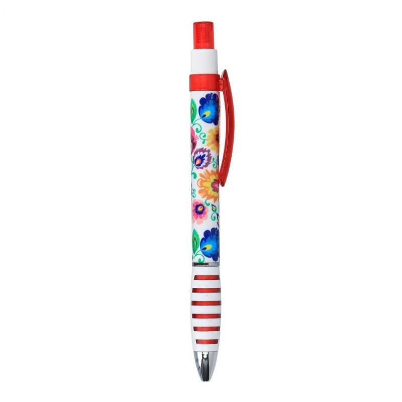 Długopis łowicki czerwony