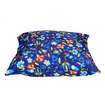 Folk poduszka niebieska kaszuby