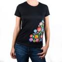 Koszulka kwiaty łowickie czarna