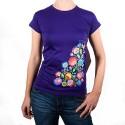 Koszulka kwiaty łowickie fiolet