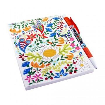 Zestaw notes Podhale kwiaty biały