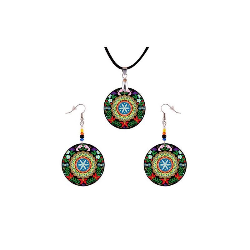 Folk biżuteria rozeta Podhale
