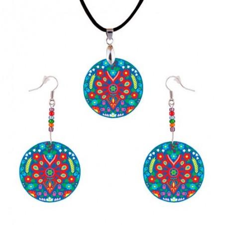 Folk biżuteria parzenica kolor