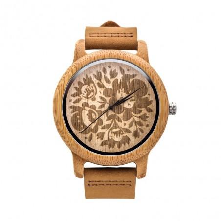 Folk zegarek łowicz drewno