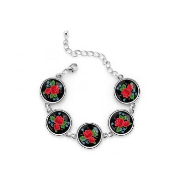 Bransoletka folk róże