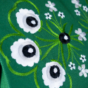 Folk worek zielony haft góralski