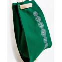 Folk worek zielony haft bieszczadzki