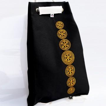 Folk worek czarny haft bieszczadzki