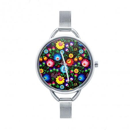 Folk zegarek łowicz czarny