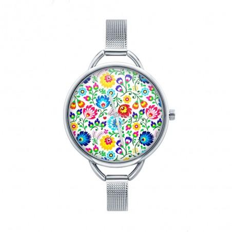 Folk zegarek łowicz biały