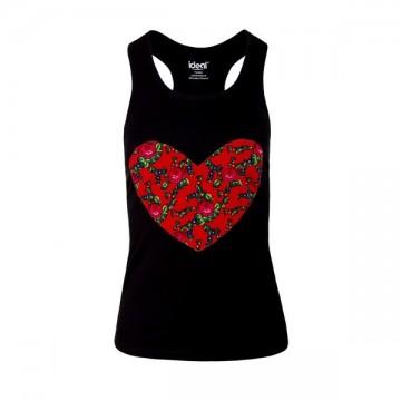Folk koszulka serce