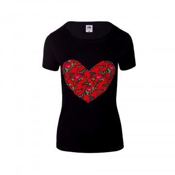 Folk koszulka serce podhale