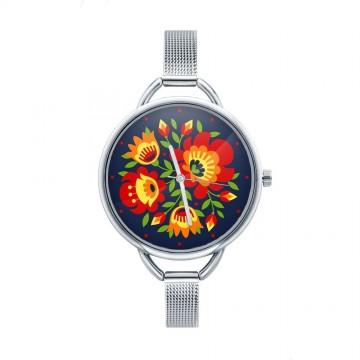 Folk zegarek łowicz granat