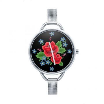 Folk zegarek ludowa róża