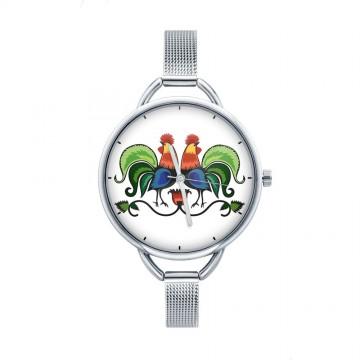 Folk zegarek ludowe kogutki