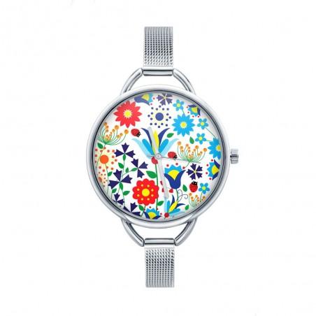 Folk zegarek kaszuby biały
