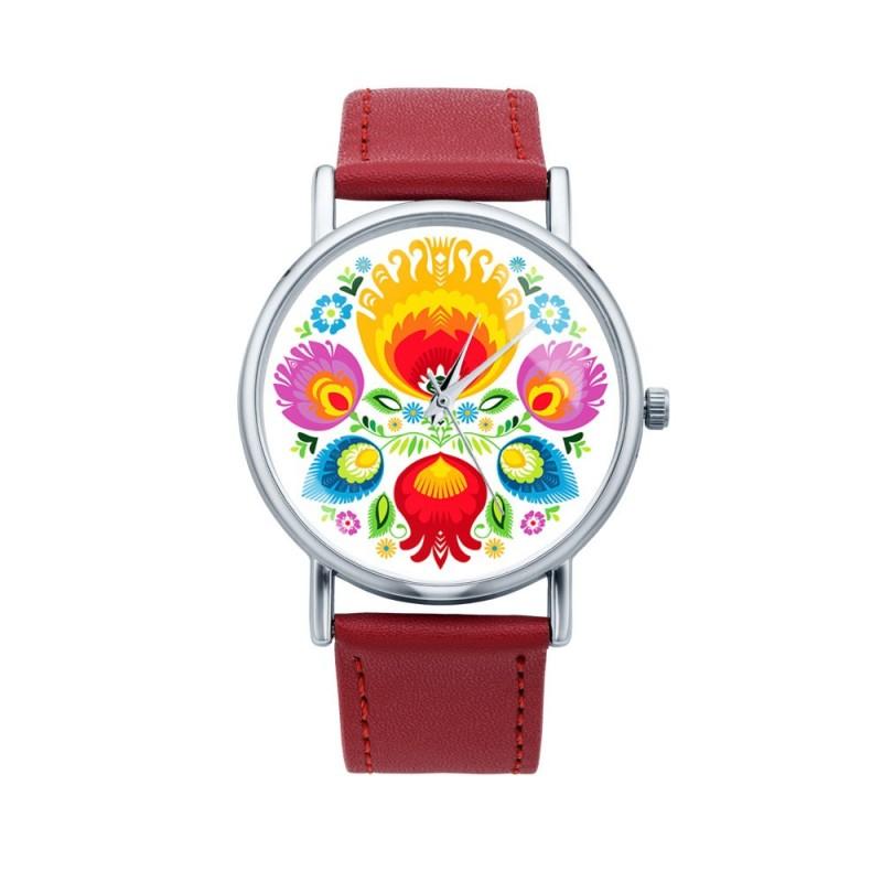Folk zegarek łowicz bukiet