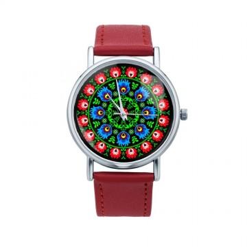 Folk zegarek ludowa wycinanka