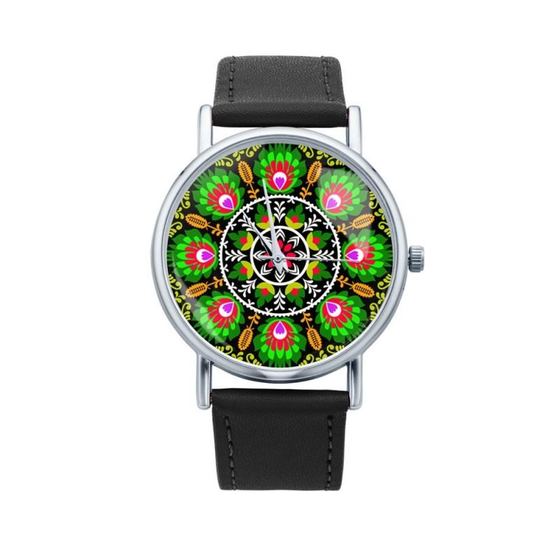 Folk zegarek ludowa wycinanka 2
