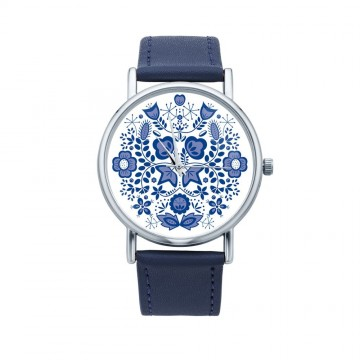 Folk zegarek modry kujawy