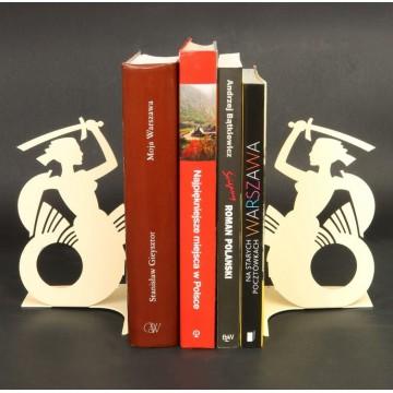 Podpórki do książek syrenka