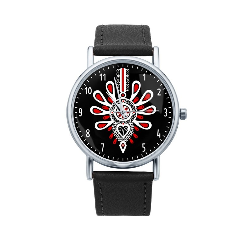 Folk zegarek parzenica czarny