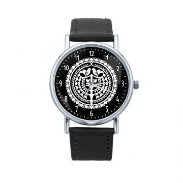 Folk zegarek kurpie czarny