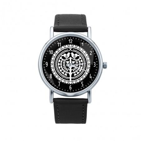 Folk zegarek kurpiowska wycinanka