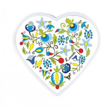Ludowy magnes serce kaszuby biel