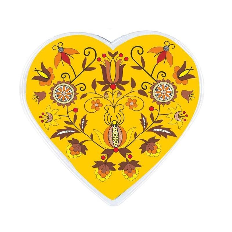 Folkowy magnes serce kaszuby haft borowiacki
