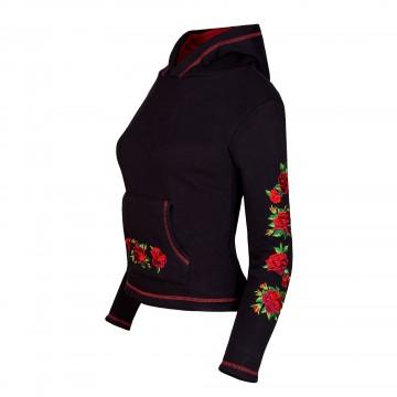 Folk bluza z ludowym haftem róże