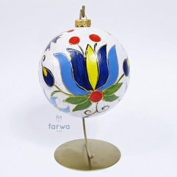 Ręcznie malowana bombka kaszuby 15 cm